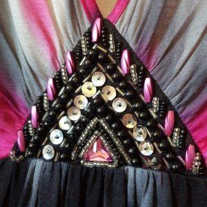 VENUS Tops - NWOT Venus Embellished Tie Dye Sleeveless Tank Top
